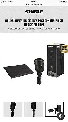 Shure Super 55 Deluxe Limited Edition Pitch Black • 245£