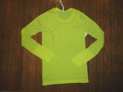 $ CDN99.51 • Buy Lululemon SWIFTLY TECH LONG SLEEVE 2.0 HIGHLIGHT YELLOW SZ 6 NWT