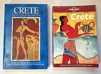 Lot (2) Lonely Planet CRETE Haitalis Full Travel Guide History Art Museums + • 6.97£