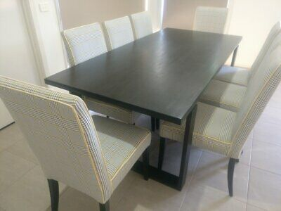 AU730 • Buy 8 Seater Timber Wooden Dining Table And Chairs