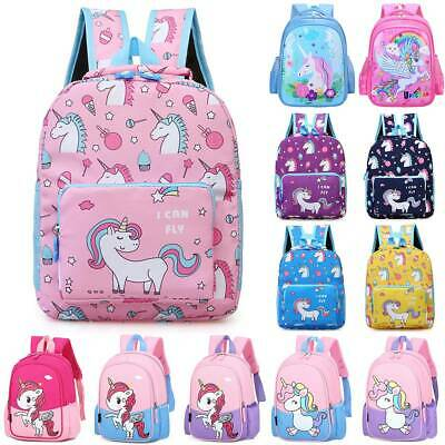 AU27.09 • Buy Kids Childs Unicorn Backpack Girls Boys School Bag Rucksack Toddlers Bookbags AU