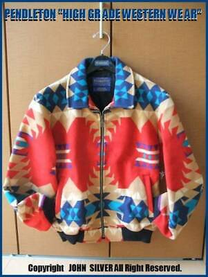 PENDLETON Authentic Santafe Jacket Red X Blue Size M New Unused From Japan • 501.13£