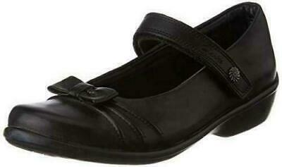 Clarks Daisy Talk Girls Black Leather School Shoes New With Box • 25.99£
