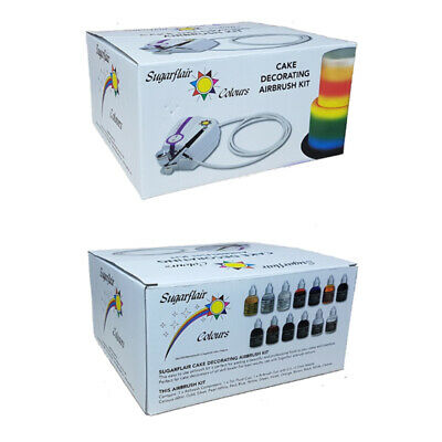 Sugarflair Professional Cake Decorating Airbrush Kit With 12 X Airbrush Colours • 109£