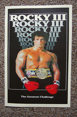 $ CDN5.09 • Buy Rocky Part 3 Movie Poster Lobby #1 Sylvester Stallone Burgess Meredith Mr T