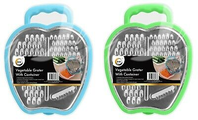 £3.95 • Buy  Cheese Food Grater With Container Vegetable Carrot  Shredder Blue/Green