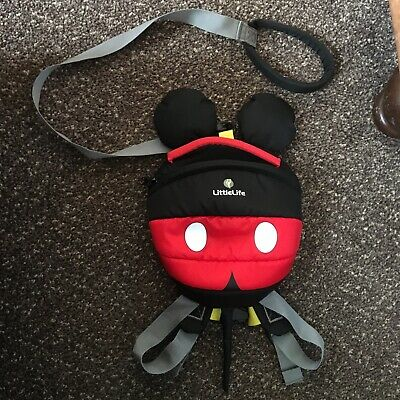 Disney Mickey Mouse Toddler Backpack With Rein • 10£