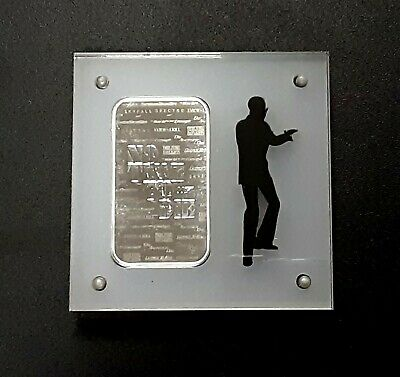 1oz Silver James Bond Bar/ Ingot Acrylic Frame Ingot Not Included Freepost • 7.99£