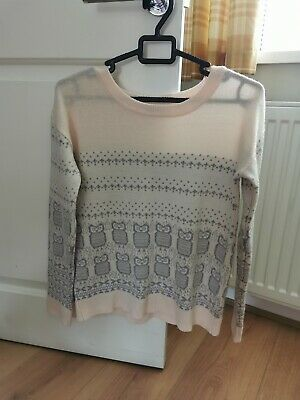 Miss Selfridge Owl Jumper Size 6 • 2£