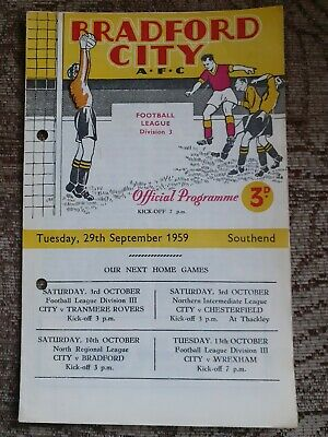 Bradford City V Southend United 1959/60 • 0.99£