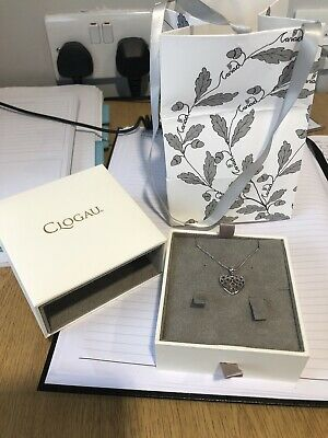 Clogau Sterling Silver And Welsh Gold Heart Pendant And Chain In Box Worn Once  • 50£