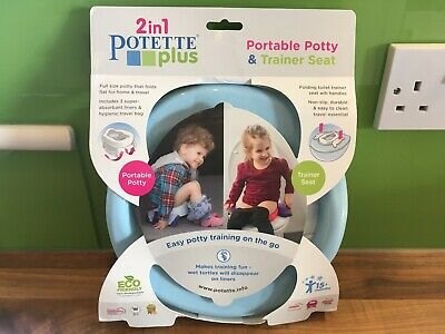 2 In 1 Potette Plus Portable Potty + Trainer Seat +15 Month • 12.99£