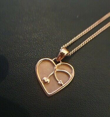 Clogau Gold Heart Necklace (Rose Gold) • 250£