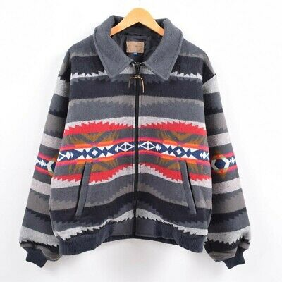 PENDLETON Authentic 1980's Native Wool Jacket Gray XL Used From Japan • 213.69£