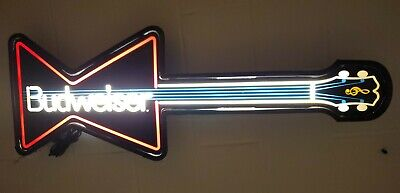 $ CDN95.38 • Buy Vtg 1989 Budweiser Guitar Faux Neon Style Lighted Wall Sign Mancave Beer Cave