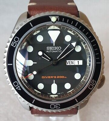 $ CDN712.07 • Buy SEIKO SKX007 Mod  The Vintage Style V3  NH36A Leather Strap New