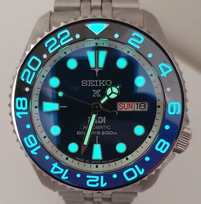 $ CDN758.51 • Buy SEIKO SKX007 Mod  Batman Lumed  Mod NH36A Jubilee Bracelet New Condition