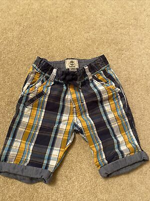Timberland Designer Boys Age 3 Checked Shorts • 7.77£