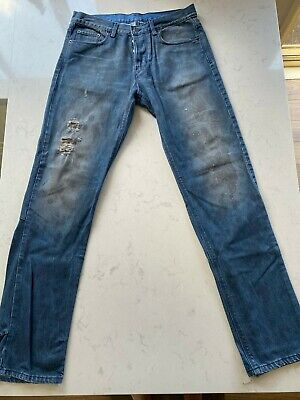 AU55.95 • Buy Ksubi Jeans - Blue - Style: GEE GEE - Size 34 - Dirty Mottle - Pre-owned