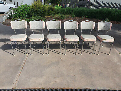 AU50 • Buy 6 X Vintage Cafe/Kitchen Chairs For Sale