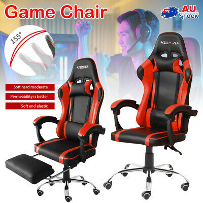 AU121.09 • Buy Gaming Chair Office Executive Computer Chairs PU Leather Seat Racing Recliner