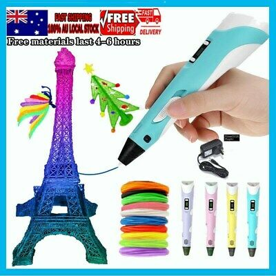 AU18.99 • Buy 3D Printing Pen Intelligent 3 Dimension Drawing Pen + USB Cable 3D Graffit Kit