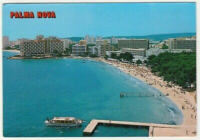 Postcard Palma Nova, Mallorca. Glass Bottom Boat, Beach • 1.59£