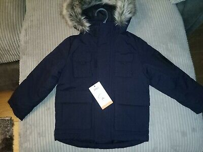 Kids Winter Parka Coat Boys, Brand New With M&S Tags, Navy Blue,  3-4 Yrs. • 10£