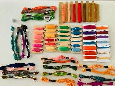 AU30 • Buy Vintage DMC Embroidery Threads 65 Skeins Various