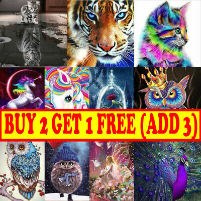 AU9.99 • Buy Full Drill 5D Diamond Painting Embroidery Cross Craft Stitch Art Kits DIY Decor