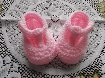 Hand Knitted  Baby Shoes / Booties 0 -3 Months  • 1.75£