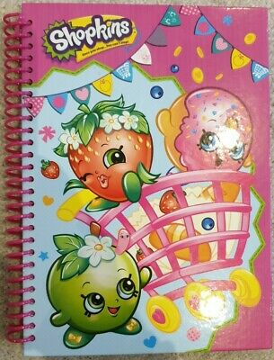 Girls Childrens Spiral Bound Shopkins A5 Ruled Notebook Pad Party Gift Bag • 1.99£