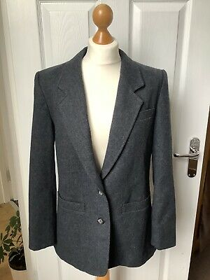 Ladies Pendleton Pure New Wool Jacket, Charcoal Grey, Buttons, Size 10 • 7£