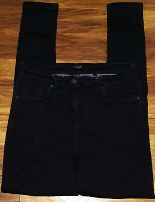 Womens🦋SIMPLYBE🦋black Stretch Skinny High Waist Denim Jeans Size 14 • 7.50£