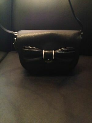 $ CDN99 • Buy Kate Spade Rosewood Place Adelaide Bow Ribbon Cross Body Purse Bag BLACK $309