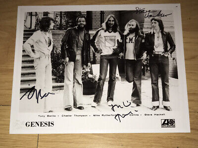 £69.99 • Buy SIGNED GENESIS 10x8 MIKE RUTHERFORD STEVE HACKETT TONY BANKS PHOTO RARE PROOF