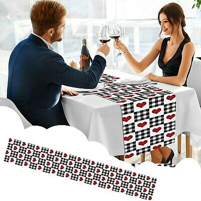 £8.47 • Buy Creative Valentine's Day Heart Printed Table Flag Table Decorations 33×229cm