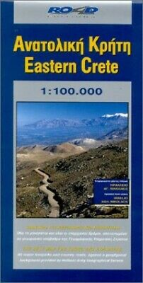 Eastern Crete (Maps Of Greek Islands) By Road Editions Sheet Map Book The Cheap • 8.49£