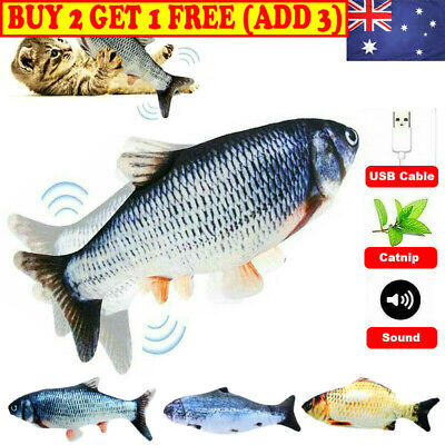 AU9.99 • Buy Electric Dancing Fish Kicker Cat Toy Wagging Realistic Moves USB Rechargeable AU