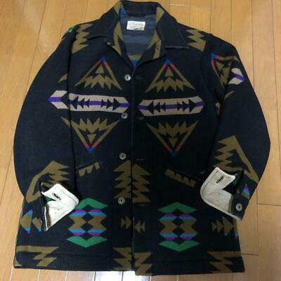 PENDLETON Auth High Grade Western Chimayo Jacket Black Size S Used From Japan • 517.06£