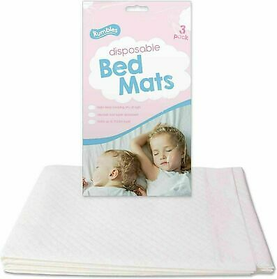 3 X Disposable Bed Mats Baby Changing Mattress Travel Protection Sheet 90 X 60cm • 2.24£