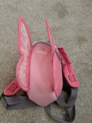 LittleLife Toddler Fairy Backpack With Rein - Pink • 5£