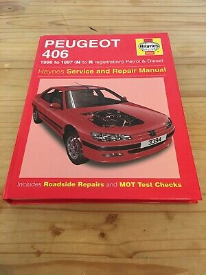 Repair Manual Peugeot 406 1996-1997 ( N-R Reg) Haynes Service And Repairs • 3.50£