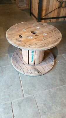 Wooden Cable Reel Drum Ideal Coffee Table Man Cave • 5£