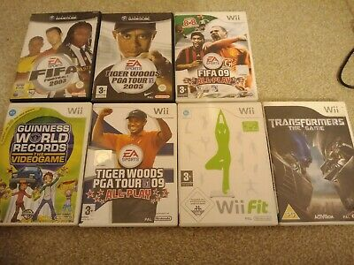 Nintendo GameCube And Wii Games Lot - FIFA, Tiger Woods, Wii Fit Etc. 7 In Total • 3.99£