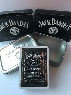 Jack Daniels Playing Cards In Silver Tobacco Tin - Brand New & Boxed  • 7.95£