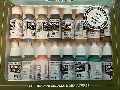 Vallejo Model Colour WWII German Camouflage Acrylic Paint Set • 16£