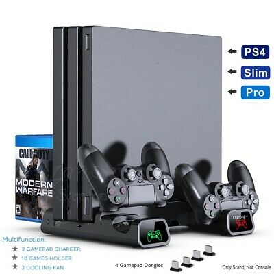 AU46.60 • Buy PS4/ PS4 Pro/ PS4 Slim Console Vertical Cooling Stand Controller Charging Base 2