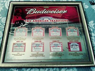 $ CDN202.06 • Buy Budweiser Two American Traditions Baseball MLB Beer Bar Man Cave Mirror Sign