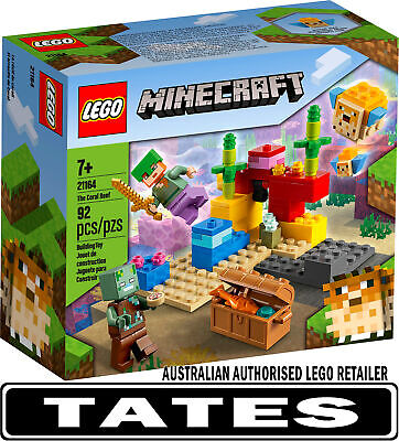 AU23 • Buy LEGO 21164 The Coral Reef  - Minecraft™ From Tates Toyworld